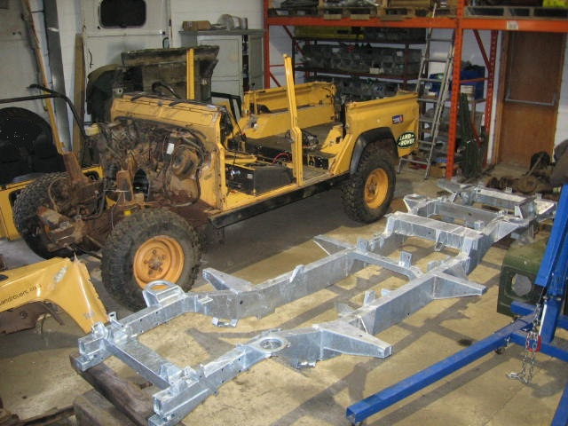 Land Rover Defender Replacement Chassis Images
